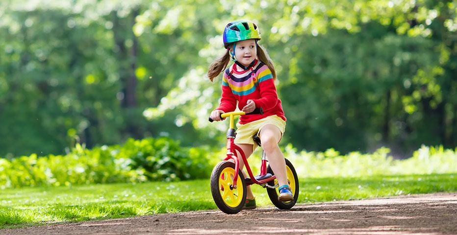 Balanscyklar lämpar sig som första barncykel